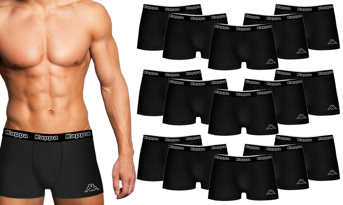 15-Pack of Kappa Men's 100% Cotton Black Boxers With Free Delivery