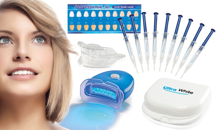 Ultra White Home Teeth Whitening Kit with 3 (£14.99), 9 (£24.98) or 15 Syringes (£34.99)