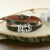 Personalized Faux Leather Bracelet from Monogram Online