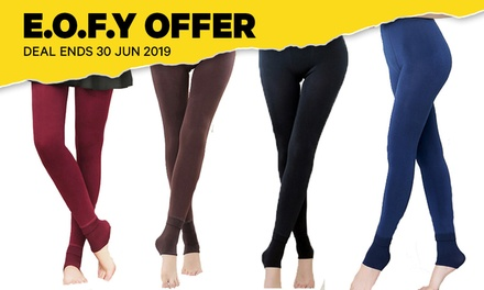 FleeceLined Leggings with Heel Cover: One Pair $12 or Two Pairs $23
