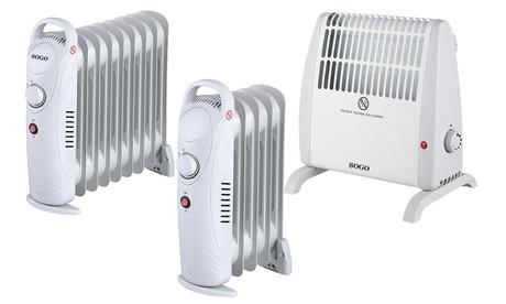 Radiadores de aceite eléctrico de 5, 7 o 9 elementos o calefactor convector Sogo