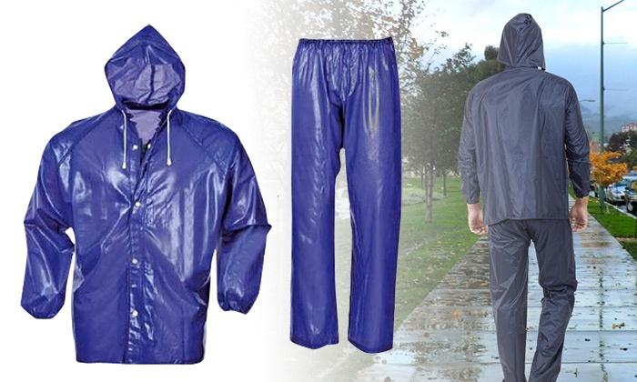 Maod - Merchandising (IL): חליפת גשם אטומה למים הכוללת ברדס ומכנסיים במידה One size. מתאים גם לרוכבי אופנוע