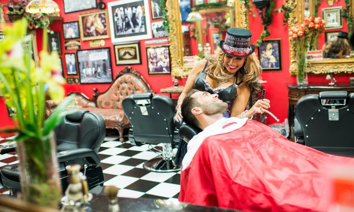 Men's Haircuts and Shaves at RazzleDazzle Barber Shop (Up to 55% Off)