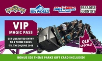 $139 for Unlimited Entry to Warner Bros. Movie World, Sea World, WetnWild Gold Coast + Paradise Country