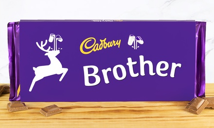 360 g Cadbury Christmas Dairy Milk Chocolate Bar in Choice of Family Name