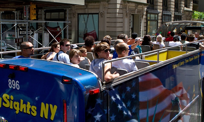CitySights NY - Gray Line New York/CitySightseeing Visitor Center: Double Decker Bus Tour and Ferry Boat Cruise Package for One or Two from CitySights NY (Up to 59%Off)