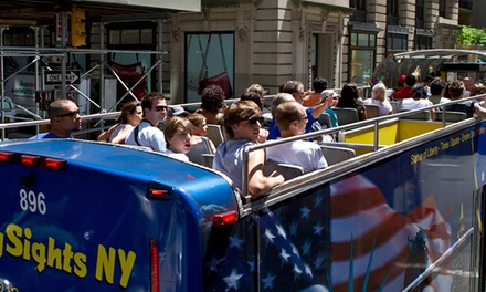Nighttime Double-Decker Bus Tour for One or Two from CitySightseeing NY (Up to 64%Off)