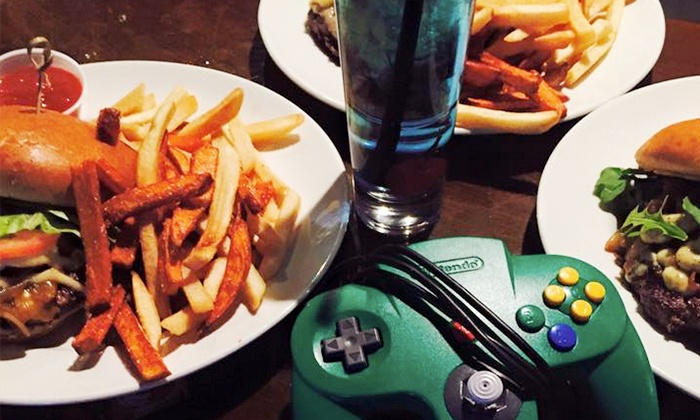 Food and games for two or more endgame bar groupon for Food bar game