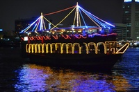 Dhow Creek Cruise with Buffet for Up to Four from Sunset Desert Safari (Up to 55% Off*)
