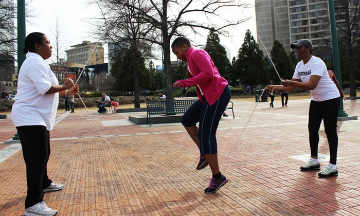 Double Dutch Aerobics - Multiple Locations: 10 or 20 Jump-Rope Fitness Classes at Double Dutch Aerobics (Up to 82% Off)