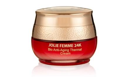 Jolie Femme 24K Bio Anti-Aging Thermal Cream; 1.7 Fl. Oz.