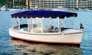 Lake Norman Duffy Boat Rentals: Two-Hour Electric-Boat Rental from Lake Norman Duffy Boat Rentals (Up to 46% Off). Three Options Available.