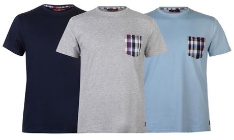 Camiseta con bolsillo a cuadros Pierre Cardin