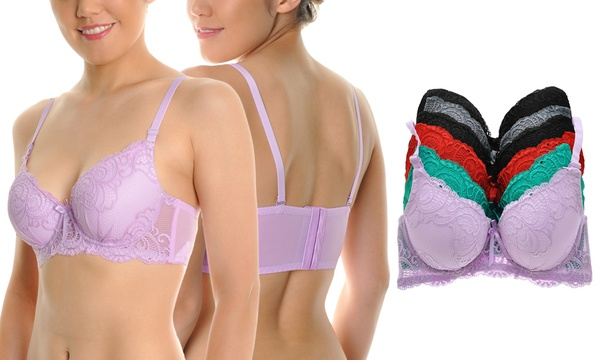 4dace1ab453 Deal Options. Angelina Wired Padded Wide-Wing Bra with Convertible Straps (6 -Pack)