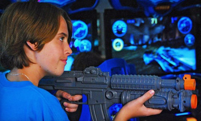 Endless Food & Fun - Huntington Beach: $12 for a Laser-Tag Package with Two Games and a $10 Game Card at Endless Food & Fun in Huntington Beach ($25 Value)