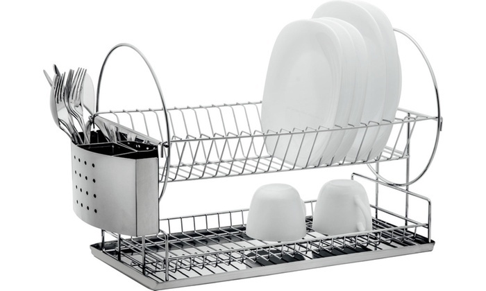 Up To 55 Off On Chrome Wire Dish Racks Groupon Goods
