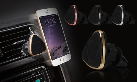 One, Two or Three Magnetic Triangle Car Smartphone Holders