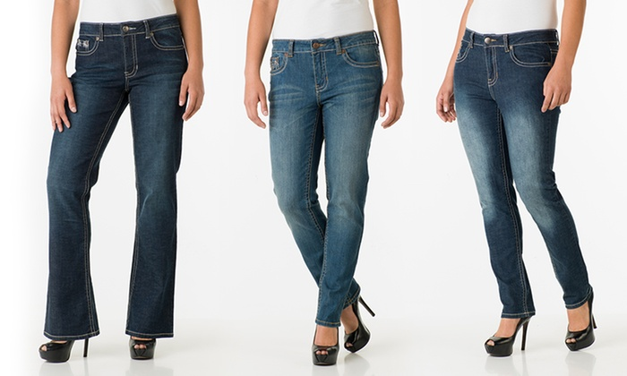 Royal Premium Women&39s Stretch Denim Boot-Cut and Skinny Jeans