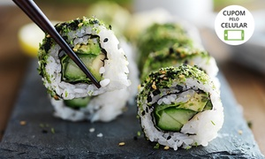 Sushi Drive - Goethe: Use o Código BLACK17 no carrinho e pague apenas R$ 39,92 em festival de sushi com sushi na mesa à vontade