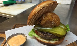 Brooklyn Cafe: Burger and Milkshake for Two at Brooklyn Cafe (13% Off)