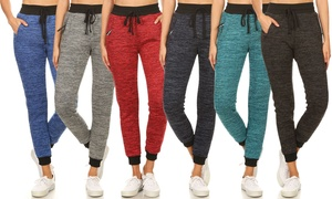 Women's Ultra Soft Fur-Lined Jogger Pants with Pockets