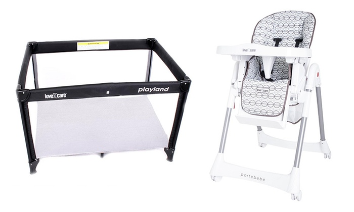 Baby Style: $139 for a Love 'n Care Playland Travel Cot, $149 for a Love 'n Care Portebebe High Chair or Bassinet