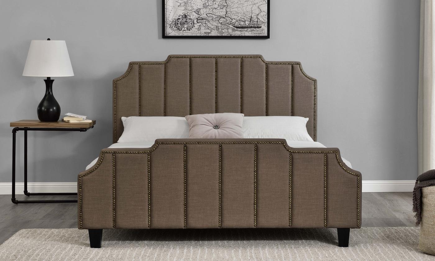 sleigh linen bed