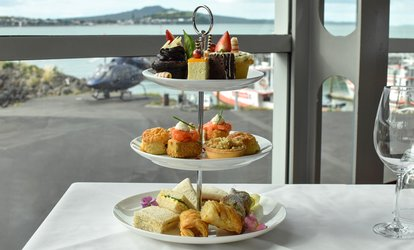 High Tea for 2 Ppl: Pkg with Tea/Coffee ($49), Bubbles ($59) or Champagne ($69) at Mikano Restaurant (Up to $115 Value)