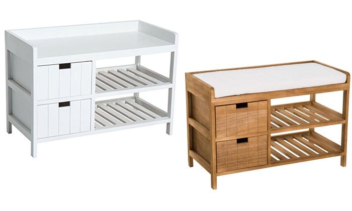Swell Up To 45 Off Homcom Wooden Shoe Storage Be Groupon Inzonedesignstudio Interior Chair Design Inzonedesignstudiocom