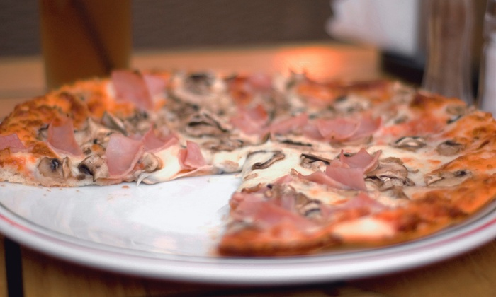 Cozmic Pizza - Downtown: Organic Pizza at Cozmic Pizza (Up to 56% Off). Three Options Available.