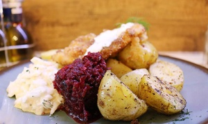 Janosik: Polish Meal with Side and Salad for Two or Four at Janosik (Up to 30% Off)