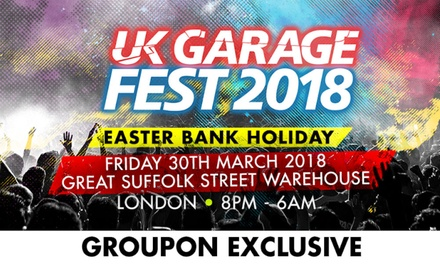 UK Garage Festival with £10 Drinks Voucher, Friday 30 March, Great Suffolk Street Warehouse (Up to 47% Off)