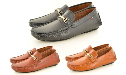 Men's Slipon Loafers with Buckle