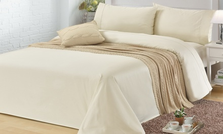 TC Cotton Rich Sheet Set in Choice of Colour and Size Don't Pay Up to $269