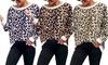 Pull pour femme imprimé léopard