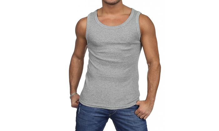 Groupon Goods: Set of 4 Men's Combed Cotton A-Shirts (Shipping Included)