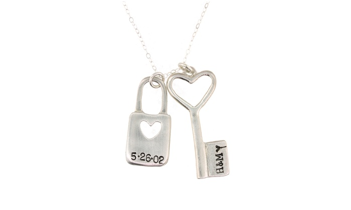 dior jewelry sale chain v id padlock silver necklace necklaces for with christian logo at master