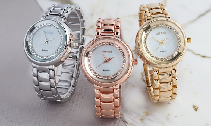 Mestige Lewis Watch with Crystals From Swarovski® from £14.99 With Free Delivery