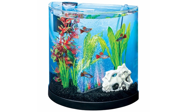 Half Moon Shaped Led Aquarium Fish Tank Groupon Goods