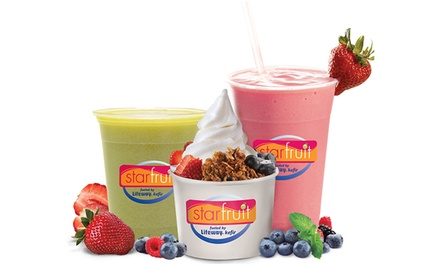 $11 for a $20 Cosmic Card Good for Frozen Kefir, Freshly Squeezed Juices, and Parfaits at Starfruit