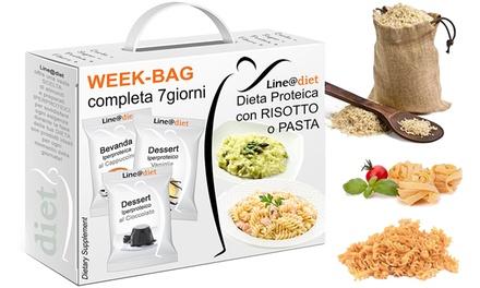 Line@diet: Cure de 7 jours de régime protéiné à base de riz et de pâtes