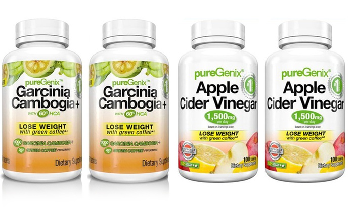 Puregenix Apple Cider Vinegar And Garcinia Cambogia 2 Or 4 Pack