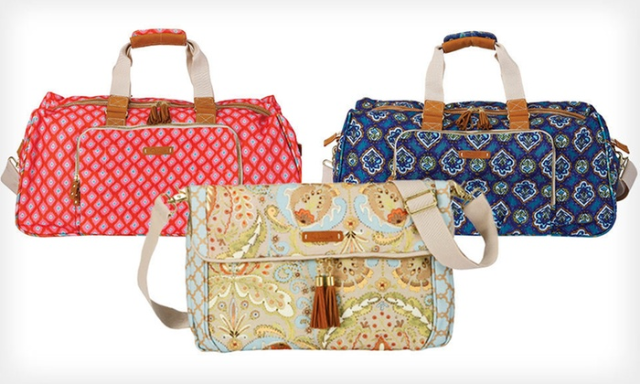 Dena Designs Totes and Duffle Bags: Dena Designs Fold-Over Tote or Large Duffle Bag (Up to 51% Off). Three Styles Available. Free Shipping and Free Returns.