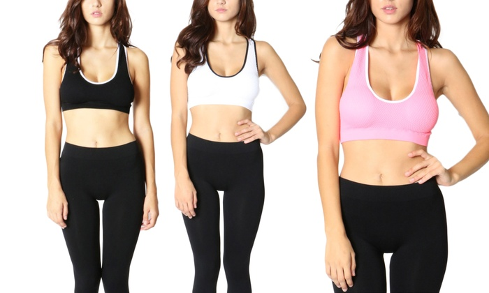 Cut-Out Two-Toned Sports Bra