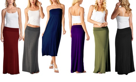 Women's Maxi Skirt in Regular and Plus-Sizes
