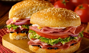 Schlotzsky's: Two Medium Sandwiches or Two Original 10-Inch Pizzas at Schlotzsky's (Up to 50% Off)