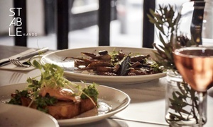 Stable Hands: Lunch: Tapas with Drink for One ($23), Two ($45) or Four People ($89) at Stable Hands (Up to $172 Value)