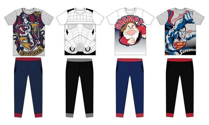Men's Character Pyjamas Set from £11.99