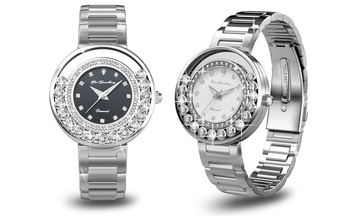 $89 for a Glamour Watch Made with SWAROVSKI ELEMENTS (Don't Pay $499.90)