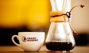 Grano Moreno Gmbh  Co Kg  Kaffeerösterei: Wertgutschein über 20 € oder 30 € anrechenbar auf das gesamte Sortiment bei der Grano Moreno Gmbh Co Kg Kaffeerösterei